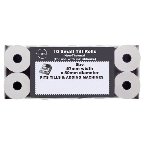Quest 10 Small Non Thermal Till Rolls 57mmx50mm