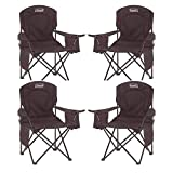Tools & Hardware : Coleman Oversized Quad Chair with Cooler Pouch (Black/Set of 4)