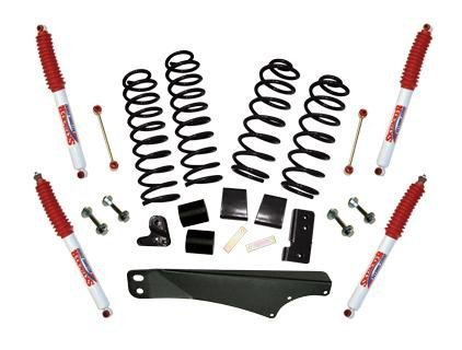 Skyjacker JK25BPH Sport Lift Kit 2.5-3.5 in. Lift Incl. Front/Rear Coil Springs Rear Track Bar Bracket/Brace Front Bump Stop Spacers Rear Bump Stop Brackets Front/Rear Hydro 7000 Shocks Sport Lift Kit ()