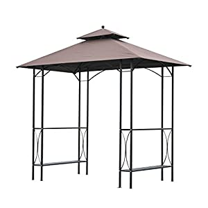 Delightful Outsunny 2.5 X 1.5m BBQ Tent Canopy Patio Outdoor Awning Gazebo Party Sun  Shelter   Coffee