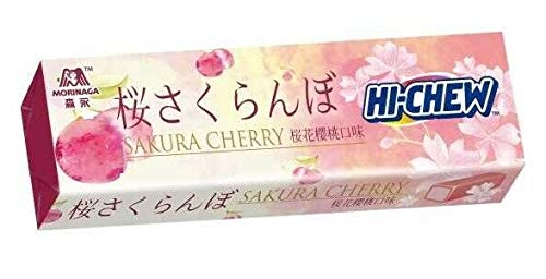Hi-Chew Sensationally Chewy Japanese Fruit Candy, Pack of 10 Sticks (Cherry Blossom (Sakura ) (Candy Blossom)