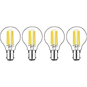 Bonlux Filament LED Bulb Dimmable B15 SBC 4W Warm White 2700K, LED Filament Bulb LED Golf Ball Bulbs Small Bayonet Cap…
