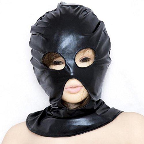 DRSMDR Máscara De Cosplay De Cuero,Máscara Halloween Disfraces Disfraz Fiesta Decoraciones,With 3 Breathable Large Holes: Amazon.es: Deportes y aire libre