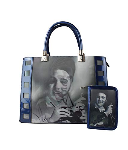 Home mujer Bolso de Azul Charol al para Fashion hombro amp; rEq8Br