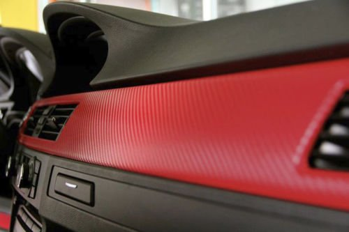 Red Carbon Fiber 60 Quot X 1ft Car Wrap Vinyl Roll With Air