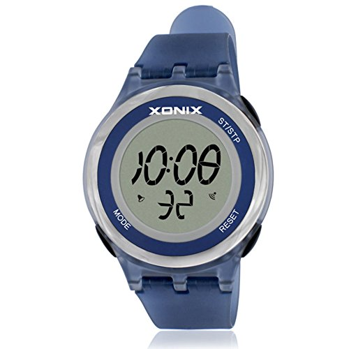 Girl's or boy's unique fashion multi-function sports watch, Jelly digital electronic Led 30 m waterproof alarm stopwatch children's wristwatch-F by CDKIHDHFSHSDH (Image #1)