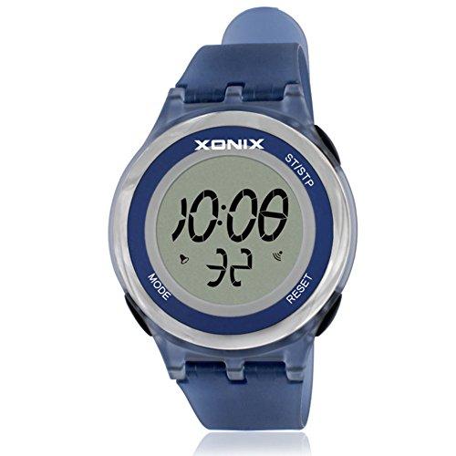 Girl's or boy's unique fashion multi-function sports watch, Jelly digital electronic Led 30 m waterproof alarm stopwatch children's wristwatch-F by CDKIHDHFSHSDH