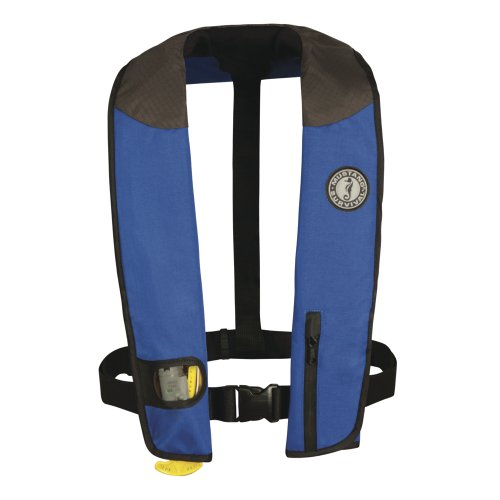 MUSTANG SURVIVAL MD3085-U-RY/BK/CR / Mustang Deluxe Adult Inflatable - Manual - Universal - Royal/Black/Carbon
