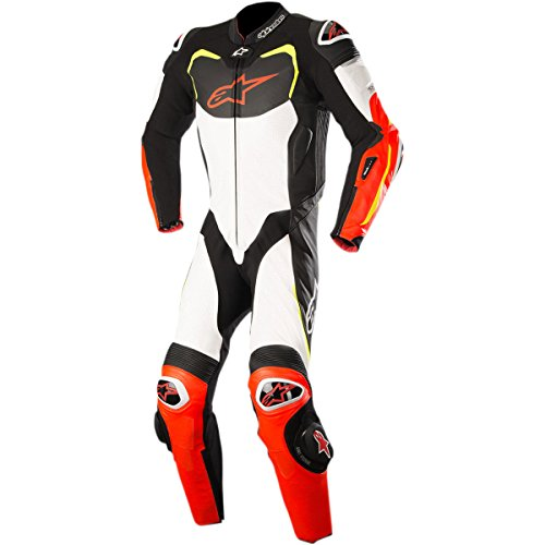Alpinestars GP Pro Men's 1-Piece Street Race Suits - Black/White/Red/Yellow / 60 ()