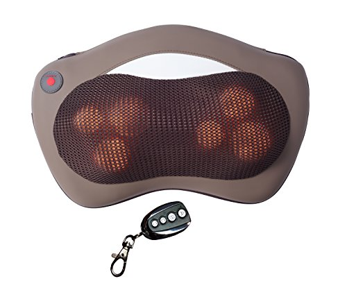 HealthmateForever 6 control kneading pillow, Shiatsu neck back massager Shiatsu with Massager Cushions, massager, back roller body massager feels hand massager, all body heated therapeutic pain relief with heat. ONLY