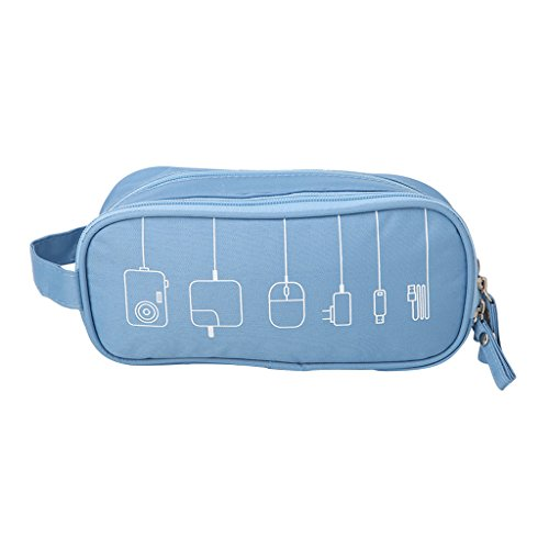 Buybuying Digital Storage Case Multifunctional Organizer Holder Travel Double Zipper Bag 3 Color Available