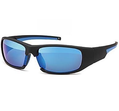 Sonnenbrille Sportbrille Rad Brille Bikerbrille New Wayfarer Sonnenbrillen 20253, Model:Schwarz Blau