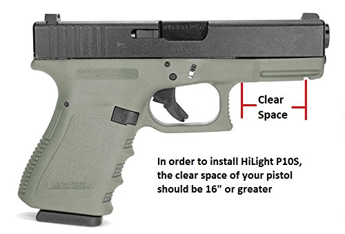 Aimkon HiLight P10S 500 Lumen Pistol LED Strobe Flashlight with Weaver Quick Release for Glock Series, Sig Sauer, Smith & Wesson, Springfield, Beretta, Ruger, and Heckler & Koch, etc. by Aimkon (Image #4)