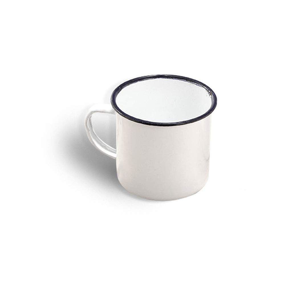 WFSING Retro Enamel Tea Cup Ceramic Mug Outdoor Home Vintage Breakfast Milk Coffee Cup Gift Mugs Tumbler