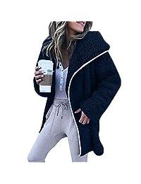 Sale! Teresamoon Women Winter Long Sleeve Hoodies Cardigan Sweater Casual Jacket Coat
