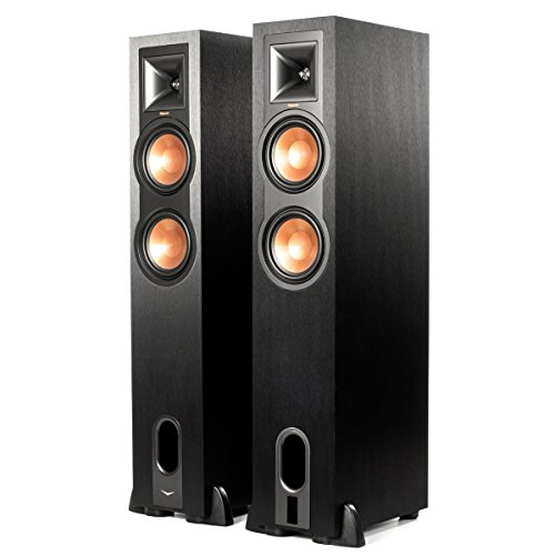 Klipsch R-26PF Black Powered Floorstanding Home Speakers (Pair) by Klipsch