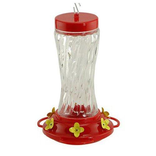 Audubon  Swirl Glass Hummingbird Feeder, 16 oz. Model NA35225