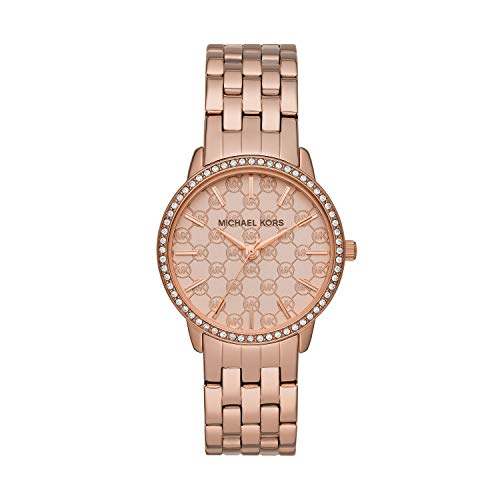 Roses Argyle (Michael Kors Women's Argyle Rose Gold Tone Stainless Steel Watch MK3156)