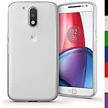 iGadgitz Transparent Clear Glossy TPU Gel Skin Case Cover for Motorola Moto G 4th Generation XT1622 (Moto G4) & Moto G4 Plus XT1644 + Screen Protector