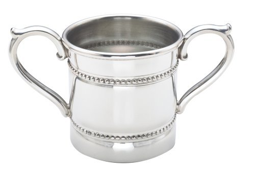 - Reed & Barton Baby Beads Pewter 5-Ounce Double Handled Baby Cup