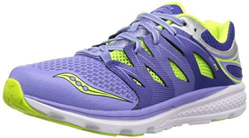 Saucony Girls' Zealot 2 Running Shoe, Purple/Blue, 11.5 Wide US Little Kid