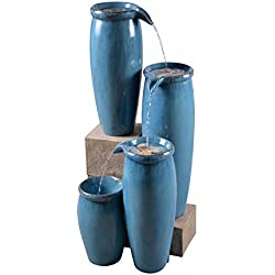 Kenroy Home 51029BLU Vessel Floor Fountain, 36 Inch Height, Blue