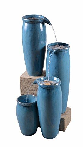 Kenroy Home 51029BLU Vessel Floor Fountain, 36 Inch Height, Blue