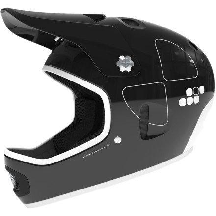 POC Cortex Flow Helmet Uranium Black, M/L