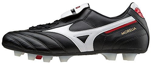 Ground Mizuno black Football Firm Md Morelia white Multicolor T66BSg