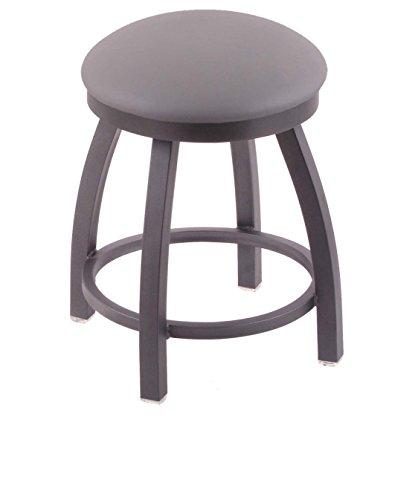 Stool Seat Finish - Holland Bar Stool Co. 802 Misha Vanity Stool with Pewter Finish and Swivel Seat, 18