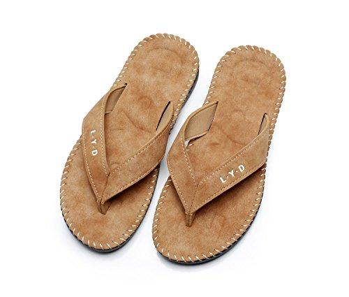 Décontracté Télévision Chaussons Clip antidérapant Kaki Plage Plein d'été en Tongs Pantoufles de Chaussures Bain de air Accueil Toe Chaussons Chaussons x4IPwtqd