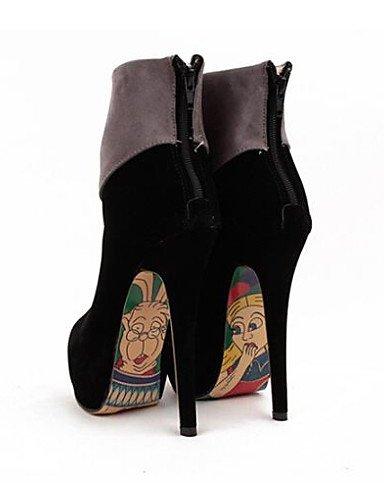 décontracté Bottes Chaussons en Bottes pour Chaussons pour Talon Ouvert Femme Bout à Chaussures pêche Citior Rond air Aiguille Femme synthétique Talons Plein Bout 6IUq1wP
