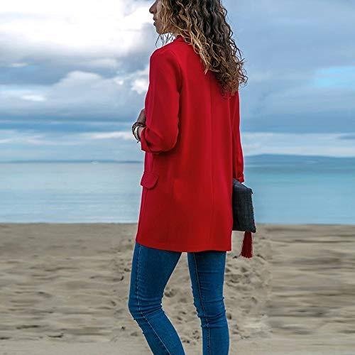 Sportiva Red Cappotto Tinta Unita Ragazza Cappotti Donne A Tuta Donne Giacche Per Moda Cardigan Lunghe Giubbotto Aperto Invernale Lunghe Morwind Maniche Donna Lunghi Cappotto Inverno Fronte t4nwHwvqR