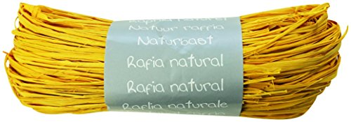 (Clairefontaine Natural Raffia Ball, 50 g, Yellow )