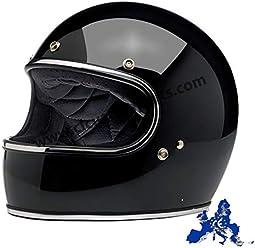 04cb5128dc1 Integralhelm Gringo Biltwell schwarz glänzend glänzend schwarz genehmigt  doppelter Zulassung ECE (Europa) & DOT