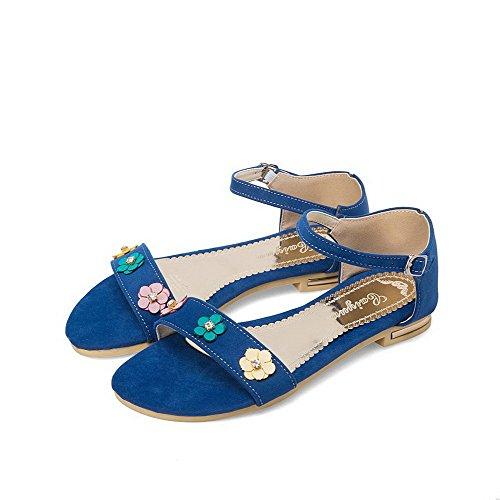 à AalarDom Couleur Sandales Bleu Femme Bas Mélangee TSFLG004833 Matière Talon Unie OtTxwta