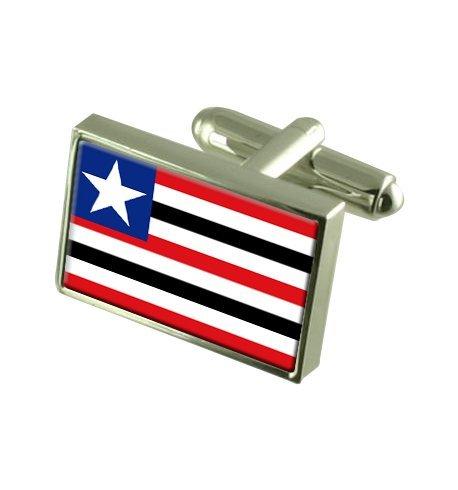 Maranhão Boutons de manchette drapeau avec select pochette cadeaux
