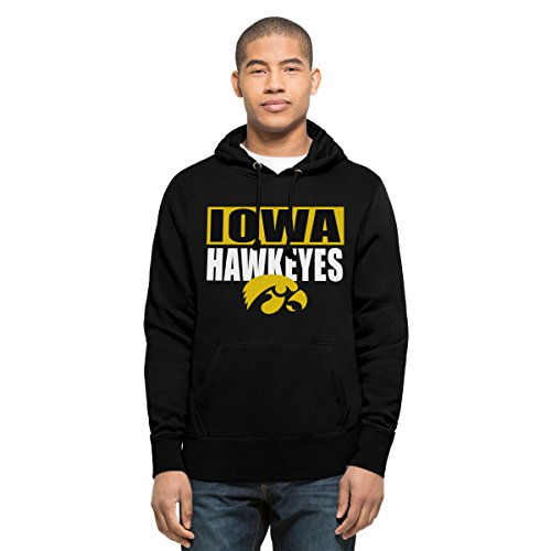 Iowa Hawkeyes Fleece Throw (NCAA Iowa Hawkeyes Men's Headline Pullover Hoodie, X-Large, Jet Black)