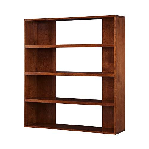 Furniture HotSpot Open Back Bookcase Etagere - 5 Tier Shelf - Classic Design with Tobacco Finish