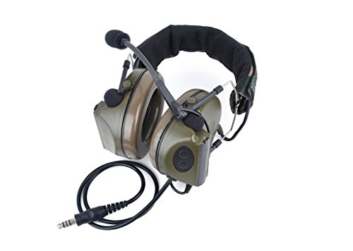 Newest Camouflage headp Comtac II Tactical Headset Noise Reduction Electronic Sound Pickup Safety Ear Muffs Microphone