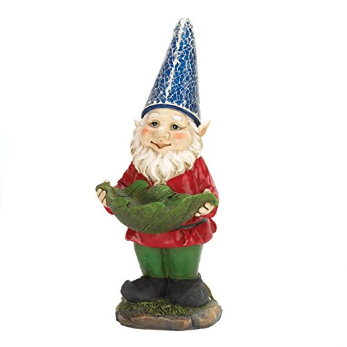 Gnomes Christmas, Village Lawn Art Squatting Miniature Gnome Garden Solar