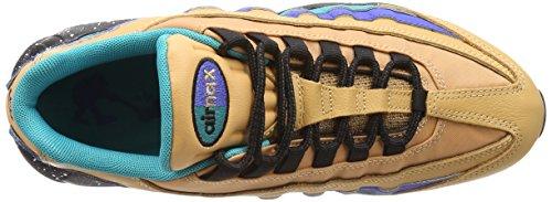 Nike Herren Air Max 95 Premium Mega Blue Schuhe in Multicolor-Leder 538416-204