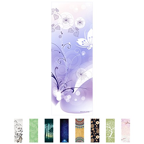 Hello Laura – Premium Quality Performance Yoga Mat European Suede Surface Texture, PVC Free, Anti Slippery, Eco Friendly, For Bikram, Hot Yoga, Pilates and Other Exercise | Under Water Theme For Sale