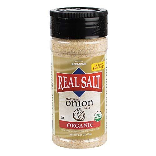 REDMOND Real Onion Sea Salt - Natural Unrefined Organic Gluten Free Coarse, 8 Ounce Shaker