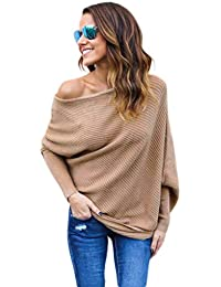 ABD Women's Autumn Off Shoulder Bat Wings Loose Pullover...