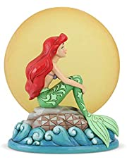 Jim Shore Disney Traditions Mermaid by Moonlight Resin Figurine, Requires 2 AAA Batteries Not Inc - Standard, Multi Color (6005954)