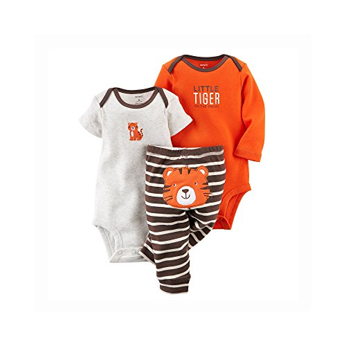 Carter's Baby Girls 3-piece L/S Bodysuit Pants Set
