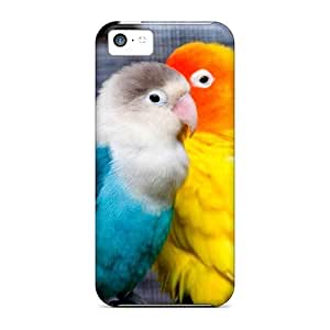 BUDSlHI4959BfNyo Tpu Phone Case With Fashionable Look For Iphone 5c - Pretty Parakeets