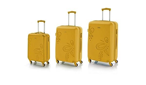 Gabol Pack de Tres Maletas, 79 cm, 35 L / 60 L / 100 L, Mostaza ...