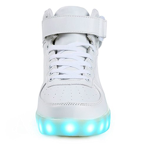 Topteck Mens High Top Light Up Shoes Divertente Maschio Lampeggiante Led Lampeggiante Con Luci Da Tennis Per Adulti